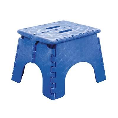 Outstanding B R Plastics Step Stool E Z Foldz Sapphire Blue 9 101 6Sb Squirreltailoven Fun Painted Chair Ideas Images Squirreltailovenorg