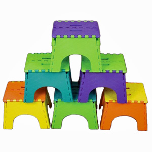 B Amp R Plastics E Z Foldz Step Stool 9 Quot Two Tone Assorted